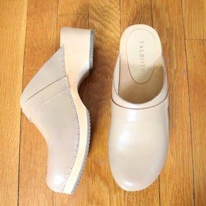 Talbots Clarissa Leather Clog Size 8.5